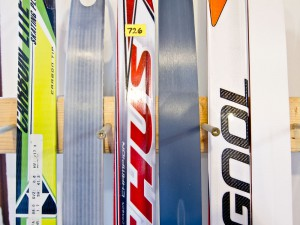 A few of the clear-base skis we have in the shop