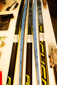 Getting to know the new skate skis...