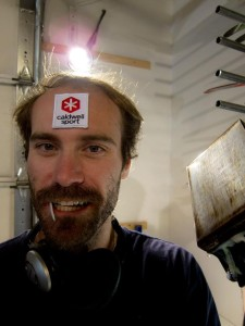 We got iron-on patches. Tom figured that beat sewing the thing onto his forehead.