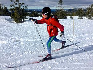 Gunnar loves his REDline JR skis. This picture is from a 54km day in Sjusjoen in March.