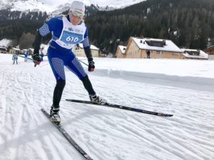 Betsy Youngman - on her way to gold in Klosters.