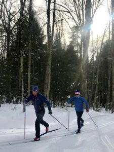 Testing new classic skis with Bryan Cook at US Nationals